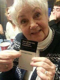 This grandma wins Cards against Humanity