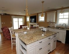 Find This Pin And More On Home Ideas Amazing Antique White Kitchen Cabinets With Black Granite Countertops