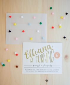 pom pom envelope / swoon studio: Almost Six.