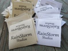 Twill Fabric Labels one and one-half inch ribbon by inkedpapers