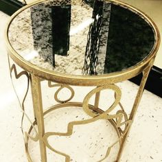 Glam in gold! Which room would you put this table in?