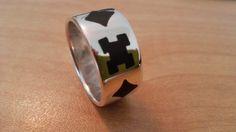 Silver Mens Ring size 9.5 ebony inlay by GrinSilva on Etsy