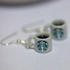 Starbucks coffee mugs earrings cool :) .