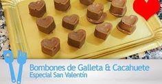Fabulosa receta para Bombones de galleta y cacahuete. Bombones de galleta y cacahuete, sencillos y muy económicos.  Vídeo: Bombones de Galleta & Cacahuete
