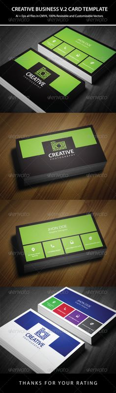 2 Colors Creative Business Card Template