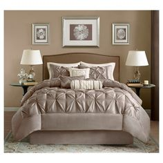 $112 KING 7 piece set Piedmont 7 Piece Comforter Set - King - Taupe