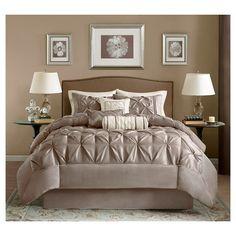 Piedmont 7 Piece Comforter Set - King - Taupe