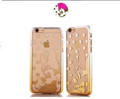 Disney-Cartoon-Gold-Chrome-Plated-Back-Clear-PC-Case-For-iPhone-6-6-Plus