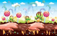 Buy Space, Candy & Sky Game Background by SCWorkspace on GraphicRiver. Three game background suitable for your android / ios or any game project. Frame Background, Vector Background, Sugar Rush, Candyland, Candy Icon, Candy Images, Sky Games, Graphic Projects, Space Backgrounds
