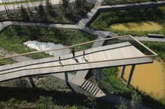 The Transformed Stormwater Park - Qunli National Urban Wetland - Turenscape - Kongjian Yu Landscape And Urbanism, Park Landscape, Landscape Architecture Design, Urban Landscape, Landscape Architects, Architecture Diagrams, Architecture Portfolio, Classical Architecture, Ancient Architecture