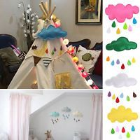 Baby Kids Nursery Home Colorful Cloud Raindrop Wall Mural Stickers Decal Decorat
