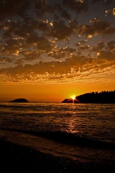 Sunset from Deception Pass.-  Photo Credit- Lawrenz Photography