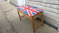 Finished! Union jack desk