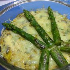 Omelette au four aux asperges et aux champignons