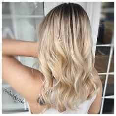Blonde balayage! Blended roots❤️ by: Tanya Edmundson