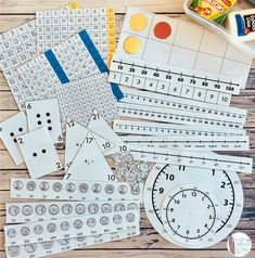 Printable Math Manipulatives for second grade