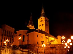 Church of the Holy Trinity, Žilina. #church #night #slovakia #architecture #christianity #summer #followme
