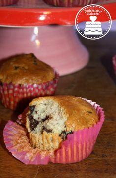Muffin vegani banana e cioccolato - vegan banana and chocolate muffin