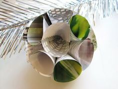 DIy 3D Paper Ornaments | Make Out of Recycled Newspaper or Any Colorful Paper