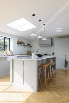 A beautifully serene Shaker Kitchen by deVOL