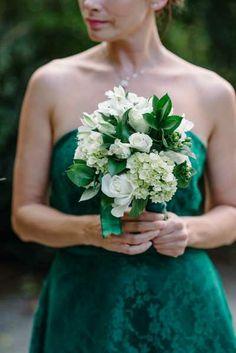 emerald green bridesmaid   photography: sean money & elizabeth fay