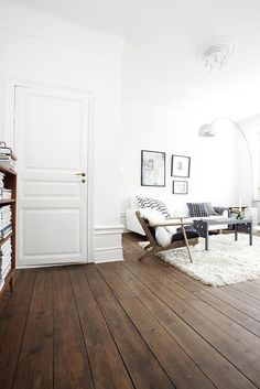 unfinished wood floor