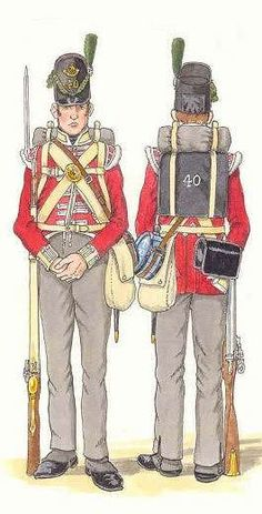 NAP- Britain: British; 40th(2nd Somerset) Regiment, Light Company, Private, c.1815, by Bernard Coppens.
