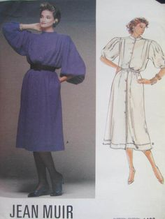 See Sally Sew-Patterns For Less - Jean Muir A-Line Dress Designer Vogue 1499 Pattern Sx. 12, $10.00 (http://stores.seesallysew.com/jean-muir-a-line-dress-designer-vogue-1499-pattern-sx-12/)