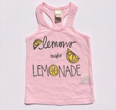 Lemons make Lemonade Racer Back Tank Top in Light Pink