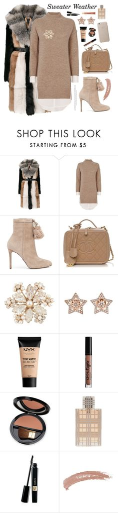 """Sweater Weather"" by shangalairina ❤ liked on Polyvore featuring N°21, Brochu Walker, MICHAEL Michael Kors, Schreiner, Diamond Star, NYX, Charlotte Russe, Dr.Hauschka, Burberry and Topshop"