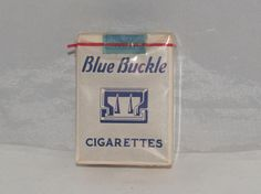 VINTAGE SEALED CIGARETTE PACK BLUE BUCKLE CIGARETTES PRE WW2 CIRCA 1934 | eBay
