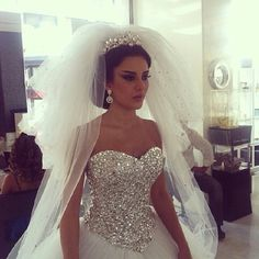 Big bling wedding dress