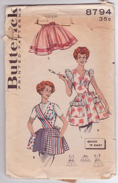 Isn't this a cute one!  Vintage Butterick