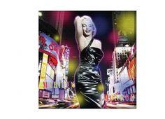 QUADRO CANVAS MARYLIN STREET 50X5. Quadro con supporto in legno con foto di Marilyn Monroe