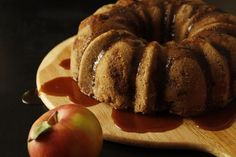 Apple Cake with Caramel Glaze (AKA Don Farmer's Apple Cake)