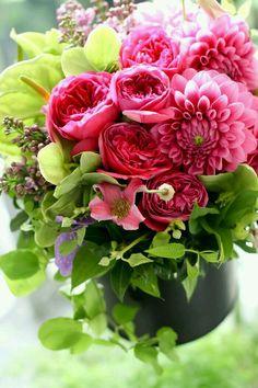 . Arte Floral, Deco Floral, Fresh Flowers, Pink Flowers, Beautiful Flowers, Pretty Roses, Beautiful Flower Arrangements, Floral Arrangements, Bloom