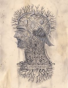 The Art of Daniel Martin Diaz / Quantum Consciousness / Embodied See Yourself, Colonial Art, Esoteric Art, Tinta China, Sacred Symbols, Mystique, Science Art, Spirit Science, Weird Science