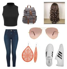 """""""Untitled #39"""" by veronicasahowell on Polyvore featuring J Brand, adidas, Ray-Ban and Aéropostale"""