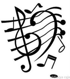 "Treble and bass clef on a staff with notes. Very fun image! ""Music ..."