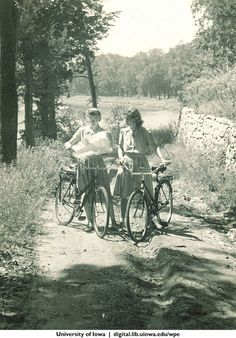 Old pictures of girls cycling and Bicycles Love Girls.  http://bicycleslovegirls.tumblr.com/