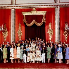 Queen Elizabeth II longest reign - 29 July 1981: Members of the British and European royal families surround Prince Charles and Princess Diana after their wedding (AFP)