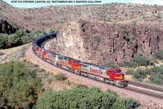 Rail Transport, Old Trains, Train Engines, Pictures To Paint, Cityscapes, Train Station, Model Trains, Locomotive, Santa Fe