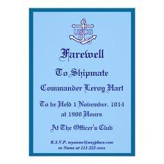 U.S. Coast Guard Farewell Party Invitation