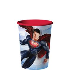 Superman Favor Cup 16oz Superman Party Favors, Superman Party Supplies, Superman Birthday Party, 4th Birthday, Inflatable Palm Tree, Superman Man Of Steel, Super Party, Best Part Of Me, Disney Princess