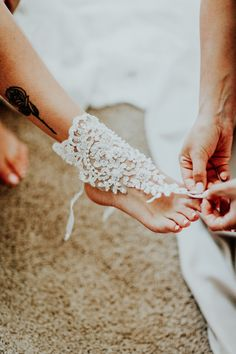 barefoot wedding shoes