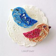 Купить Броши Птички-невелички - комбинированный, голубой, персиковый, птичка, птица, брошь, брошь птица