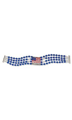 Jewelry Design - Multi-Strand Bracelet with Czech Glass Beads, Seed Beads and Silver-Finished Steel Safety Pins - Fire Mountain Gems and Beads