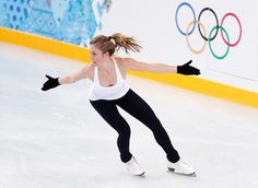 Ashley Wagner of the United States practices her Figure Skating routine ahead of the Sochi 2014 Winter Olympics at the Training venue on Feb...