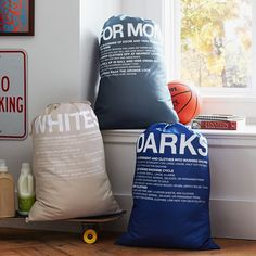 Sort clothes into these laundry bags on the go
