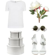 """Embroidered crochet-cotton top"" by nougatlondon on Polyvore"